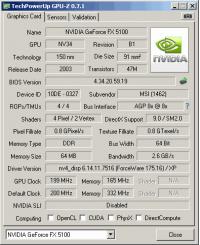 MSI MS-8917 GPUZ